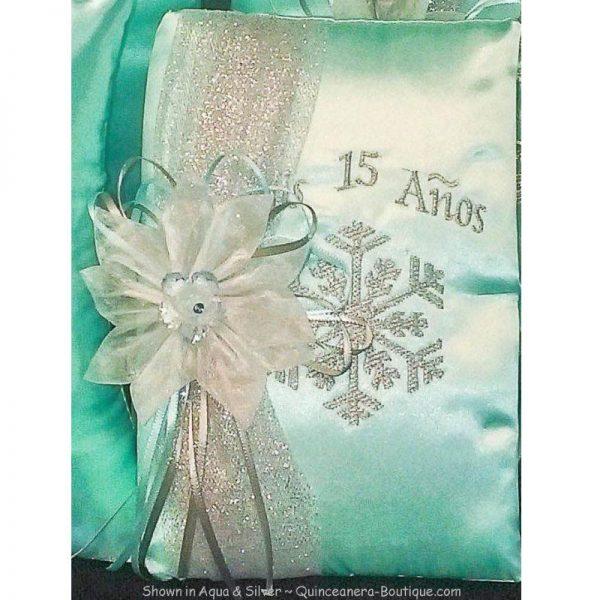 Snowflake Magic Bible in Aqua