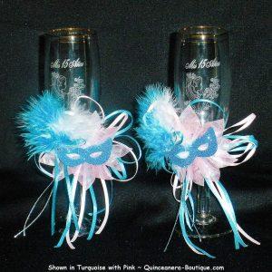 Quince Champagne Glasses-Masquerade