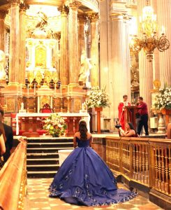 Quinceanera at her Mass of Thanksgiving