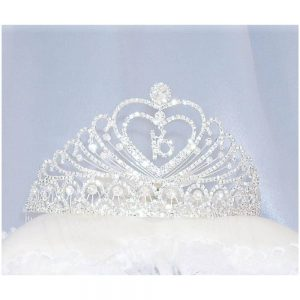 Double Heart Tiara with 16