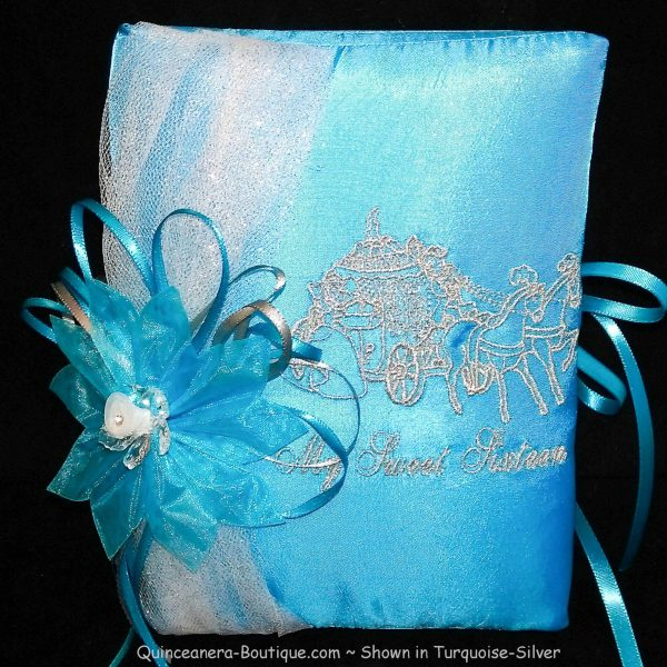 Bible with Pumpkin Coach in Turquoise