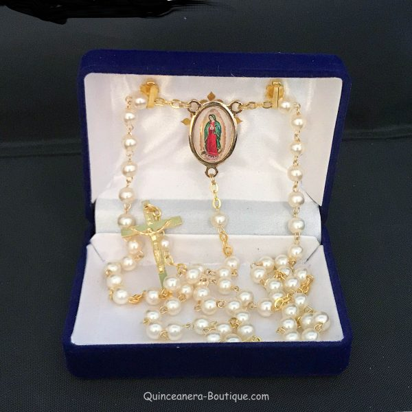 Our Lady of Guadalupe Rosary-Pearl