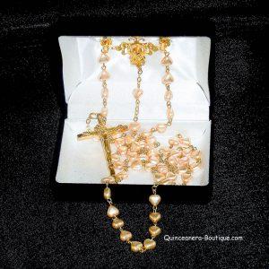 Pearl Hearts Rosary