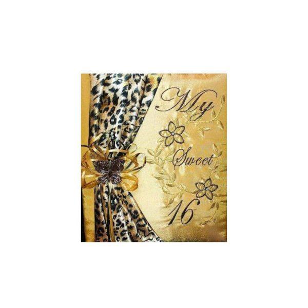 Money Bag-Daisies Cheetah Sash