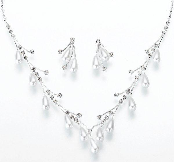 Pearl Drop Jewelry Set