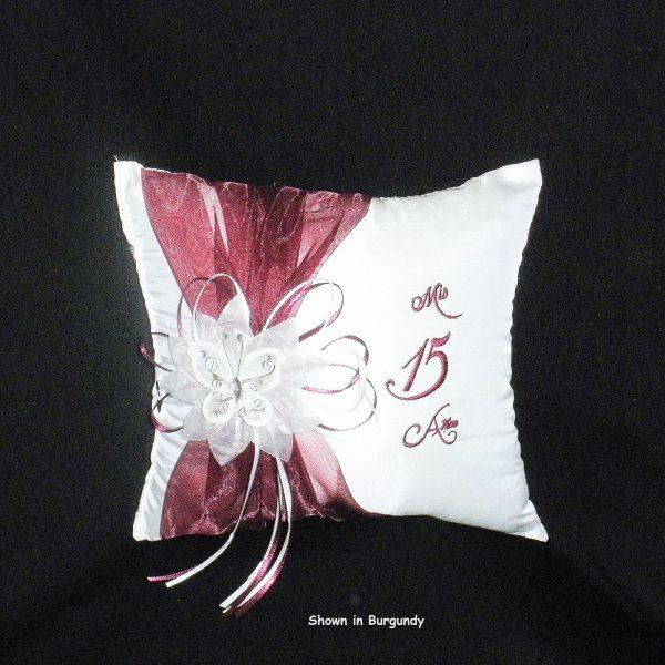 Festividades Tiara Pillow in Burgundy