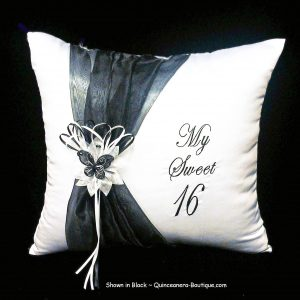 Festividades Kneeling Pillow in Black
