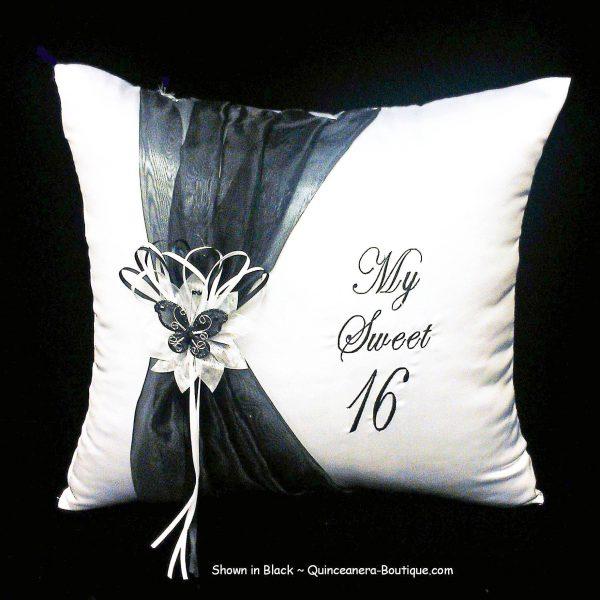 Festividades Kneeling Pillow in Black