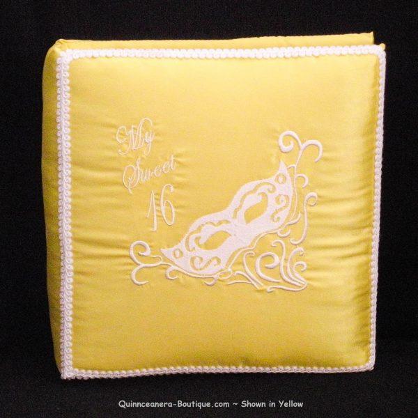 Masquerade Photo Album in Yellow