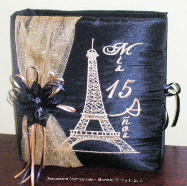 Paris Party Photo Album in Black and Gold