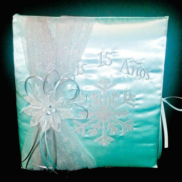 Snowflake Magic Photo Album in Aqua