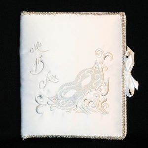 Masquerade Guest Book in White