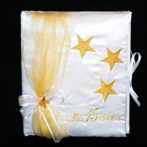 Stars Guest Book in Gold
