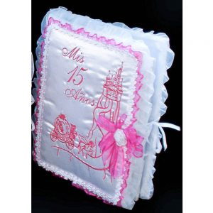 Fairytale Castle Guest Book in Fuchsia