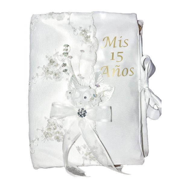 Fiesta Guest Book in White for 15
