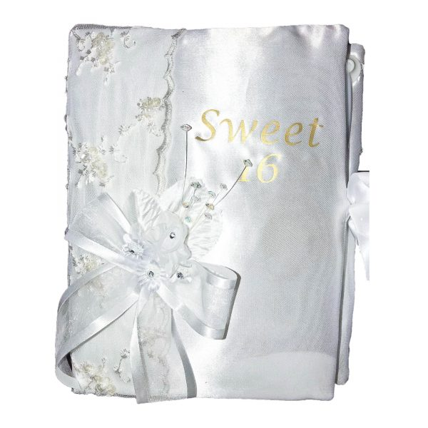 Fiesta Guest Book in White for 16
