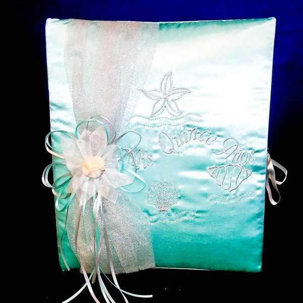 Under-The-Sea Guest Book in Aqua