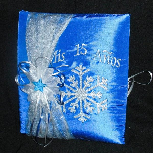 Snowflake Magic Guest Book in Royal Blue