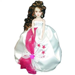 Stars Quinceanera Doll in Fuchsia