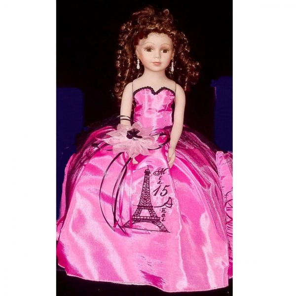 Paris Party Quinceanera Doll in Hot Pink