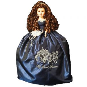 Pumpkin Coach Quince Doll in Navy