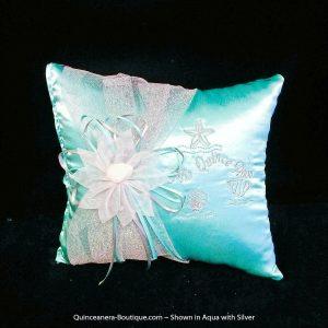 Under-The-Sea Tiara Pillow in Aqua