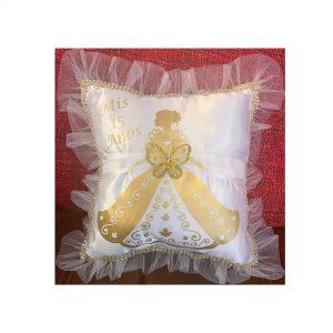 Debutante Pillow for the Tiara in Gold