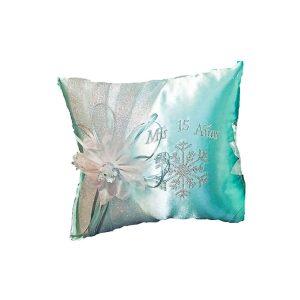 Snowflake Magic Tiara Pillow in Aqua