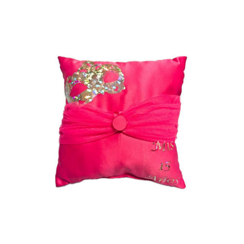 Masquerade Sparkle Pillow for the Tiara in Fuchsia