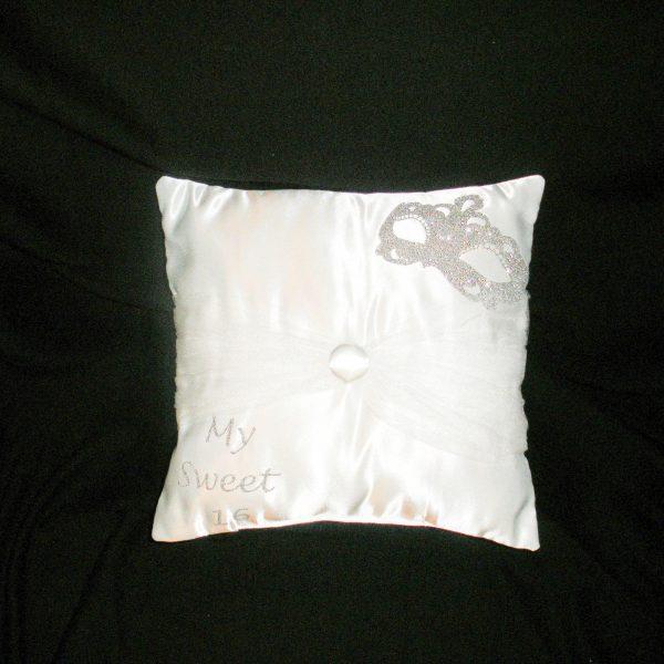 Masquerade Sparkle Pillow for the Tiara in White
