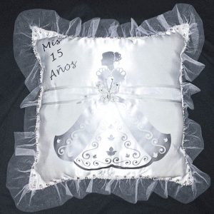 Debutante Pillow for the Shoes in Silver