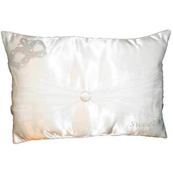 Masquerade Sparkle Pillow for the Shoes in White