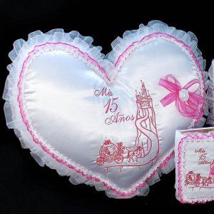 Fairytale Castle Kneeling Pillow in Fuchsia