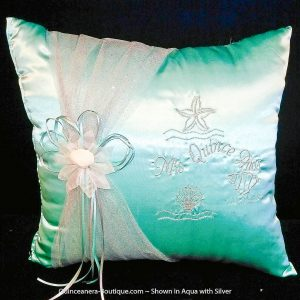 Under-The-Sea Kneeling Pillow in Aqua