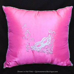 Masquerade Kneeling Pillow in Hot Pink