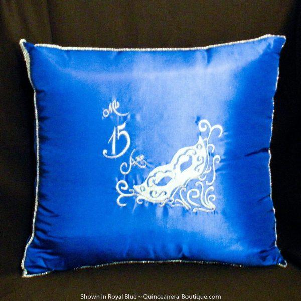Masquerade Kneeling Pillow in Royal Blue