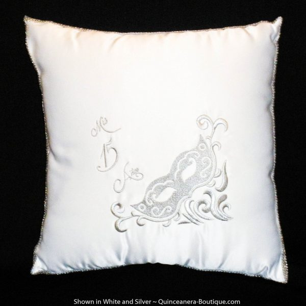 Masquerade Kneeling Pillow in White
