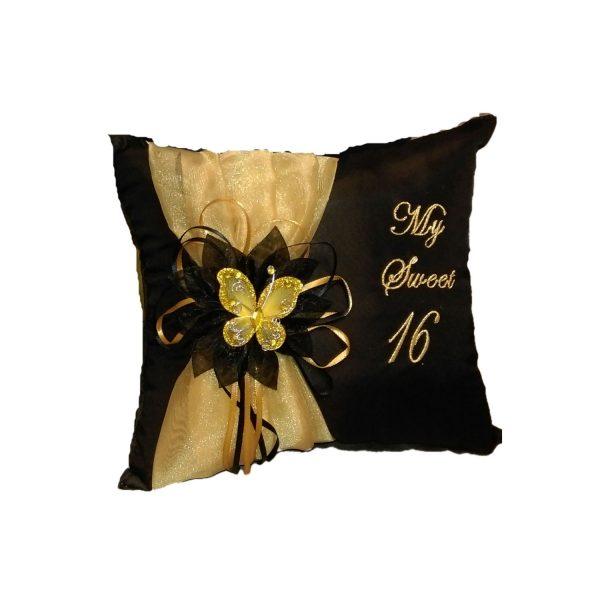 Celebration Tiara Pillow in Black