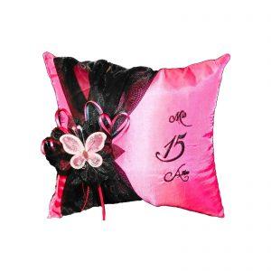 Celebration Tiara Pillow in Hot Pink