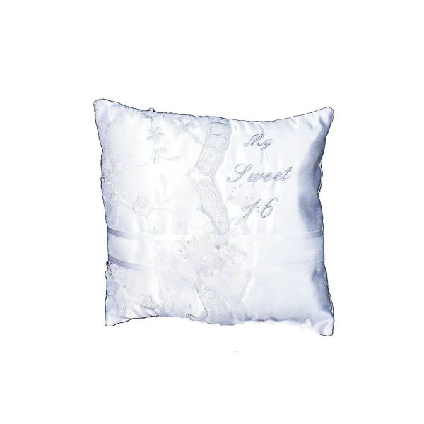 Fiesta Ceremony Pillow for the Tiara in White