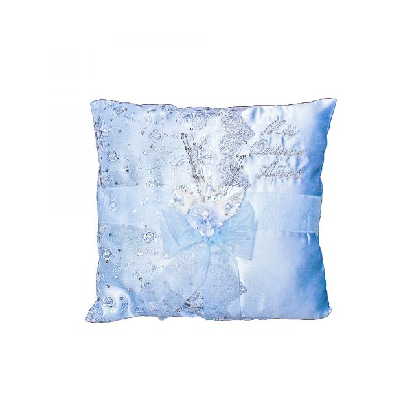 Fiesta Ceremony Pillow for the Tiara in Baby Blue