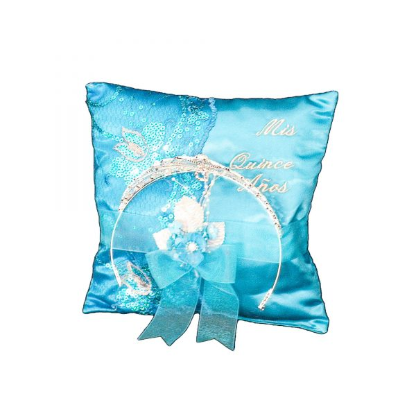Fiesta Tiara Pillow in Turquoise