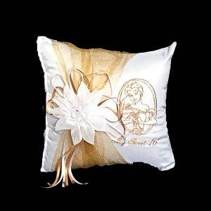 Belle Tiara Pillow in Gold
