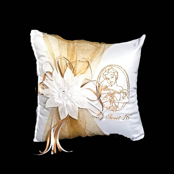 Belle Tiara Pillow in Gold