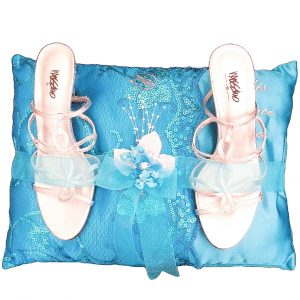 Fiesta Ceremony Pillow for the Shoes in Turquoise