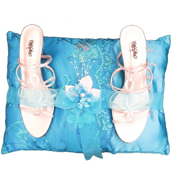 Fiesta Pillow for the Shoes in Turquoise