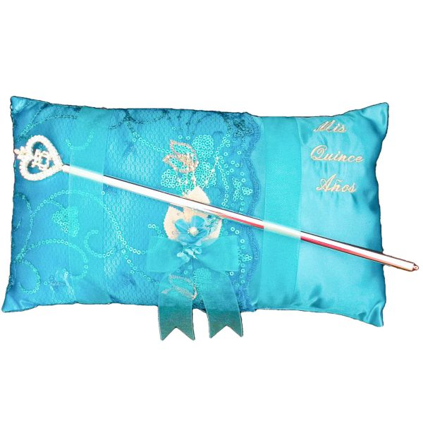 Fiesta Ceremony Pillow for the Sceper in Turquoise
