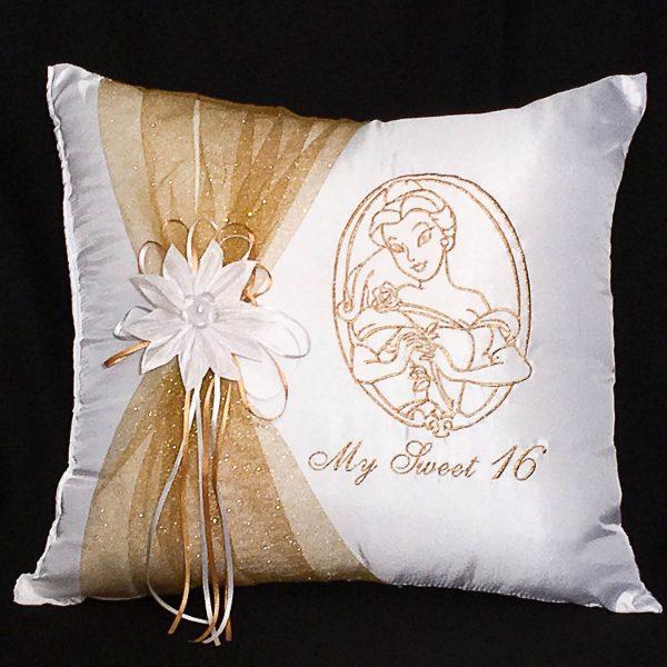 Belle Kneeling Pillow in Gold