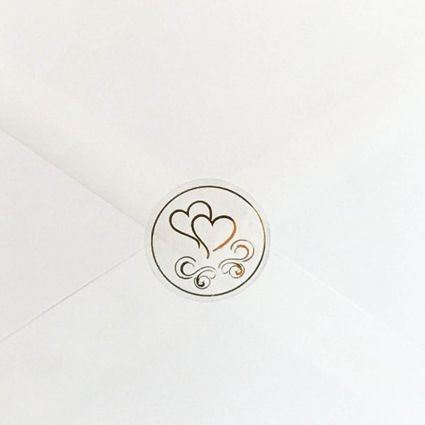 Double Hearts Seal in Gold