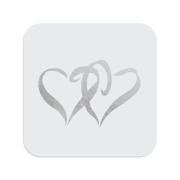 Two Hearts Envelope Seal - Silver